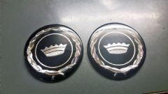 Pair New Genuine Mk1 Consul/Granada Hubcap Badges